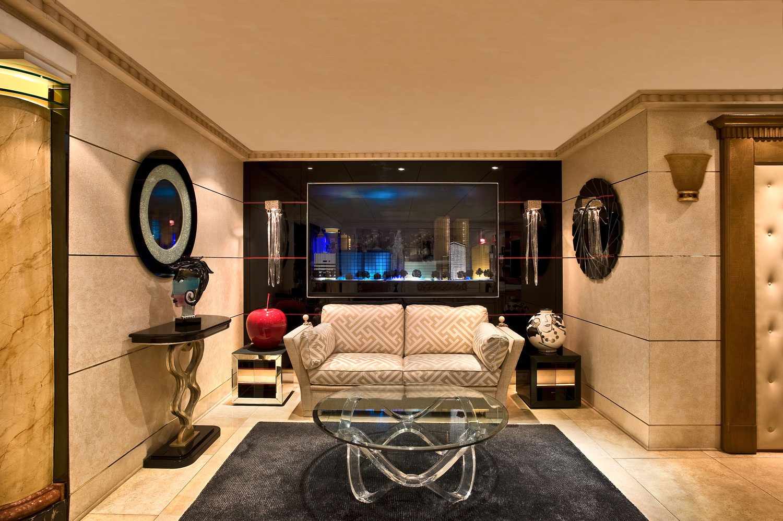 Canapé de Luxe, prestige, Table transparente, Console, Madélia