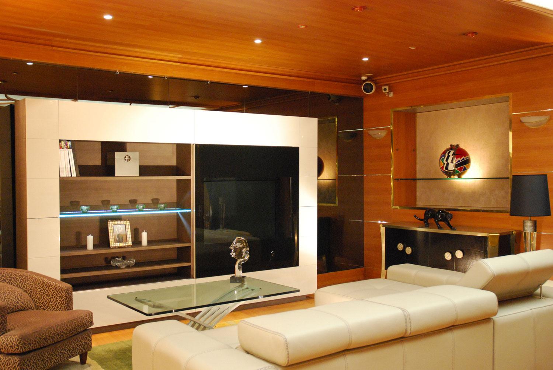 Meuble de Rangement et TV - bibliothèque- Mobilier de luxe Paris