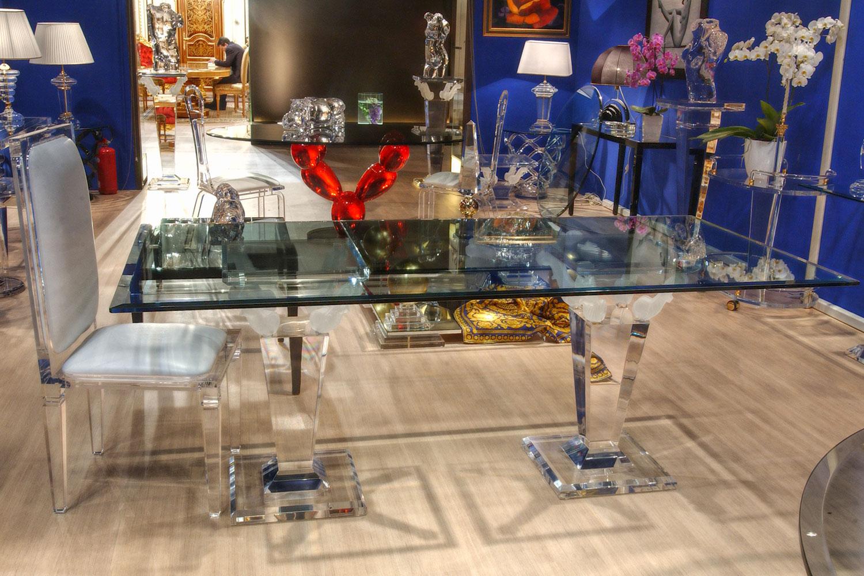 Table haute table de repas transparent - Madélia Paris