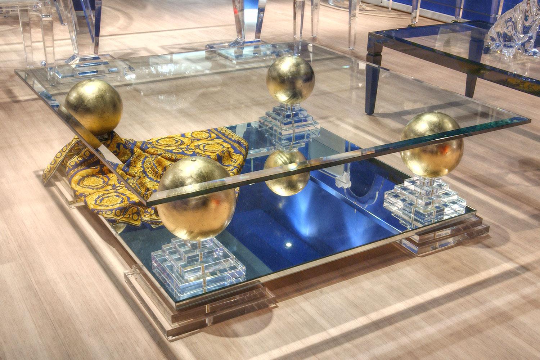 Meuble de Prestige Table basse transparente Madélia Paris