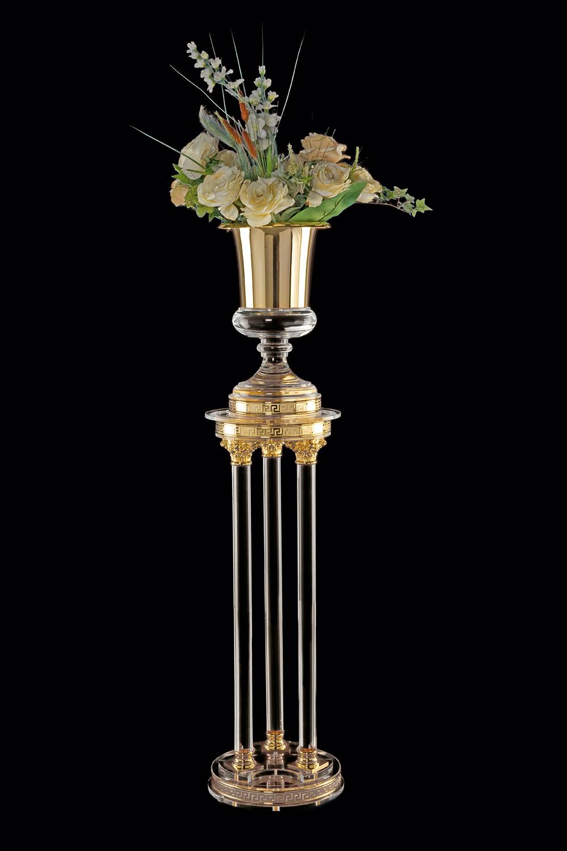 Décoration de prestige Paris Colonne et coupe Transparente et doré Madelia