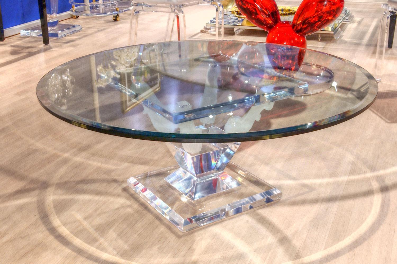 Table basse transparente Madélia Paris Mobilier de luxe Paris