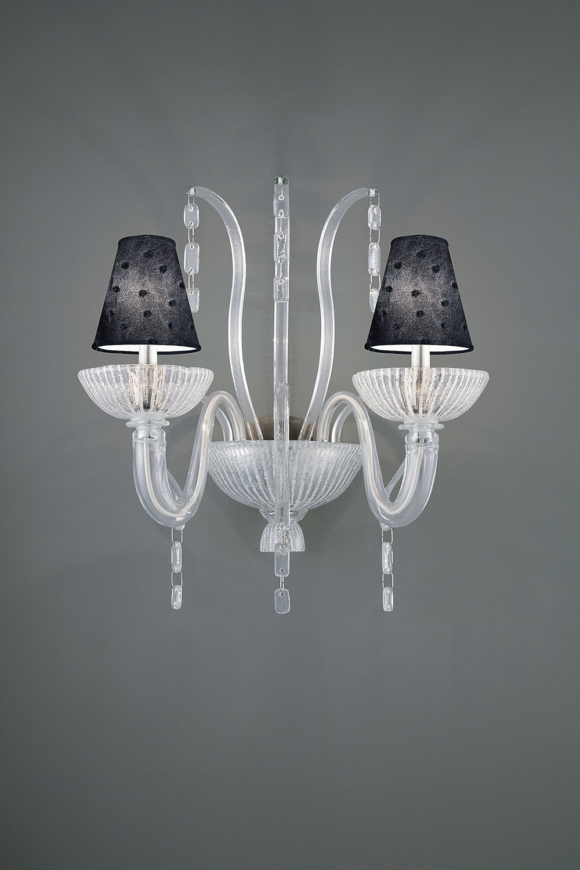 Applique Ducale 2 branches en verre de Murano-Luminaire Madelia Paris