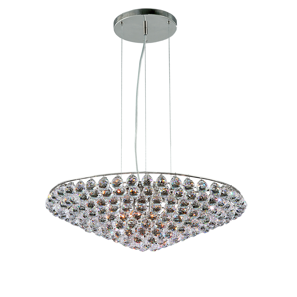 Oxford pendant chandelier Chrome or gold frame with crystals- Luxury lighting Madelia Paris