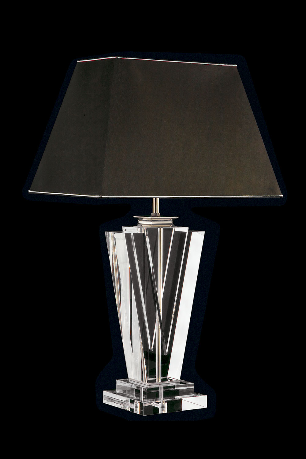 Clear lamp, chrome or gilded base-Luxury lighting  Madelia Paris
