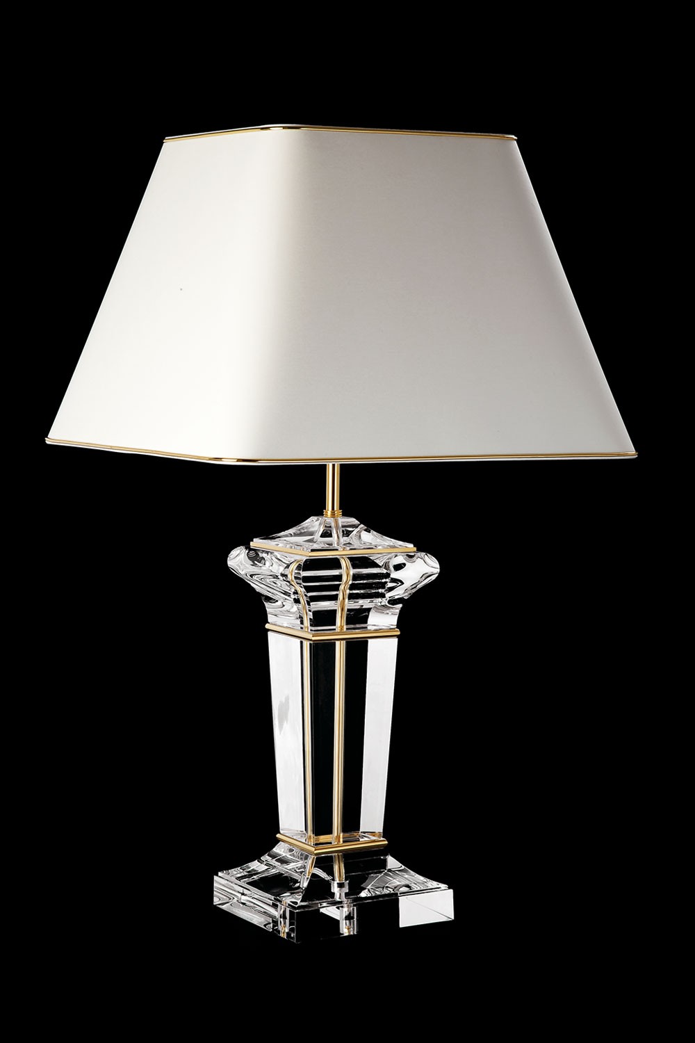 Clear 90 lamp, gilded or chrome base - Luxury lighting from Madelia Paris