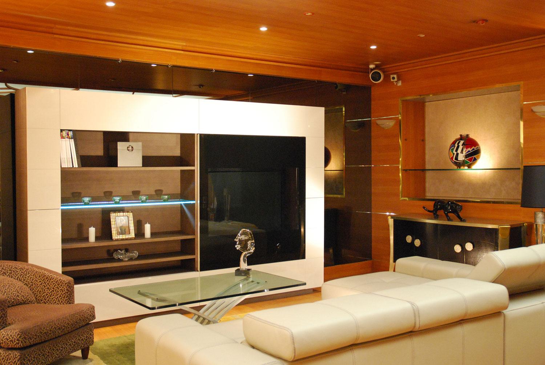Blibliothèque, meuble de rangement haut Madélia-Mobilier de Luxe Paris