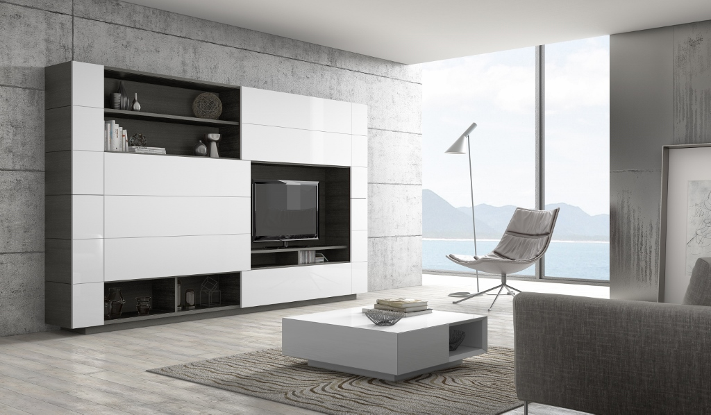 Biblioth que meuble de rangement haut mobiler de luxe for Meuble composable tv