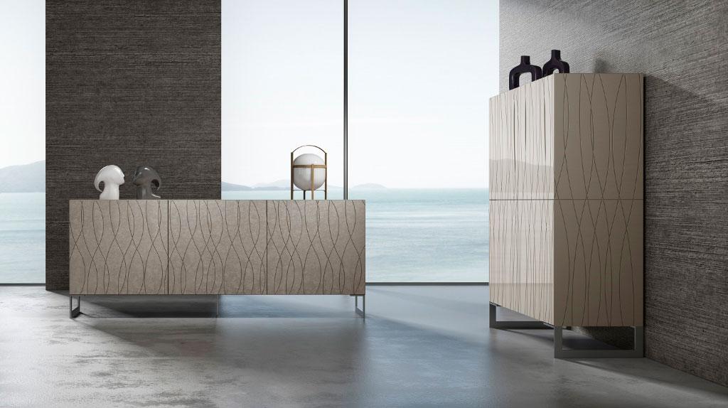 Meuble de rangement, bahut, meuble à portes composable Madélia-Paris