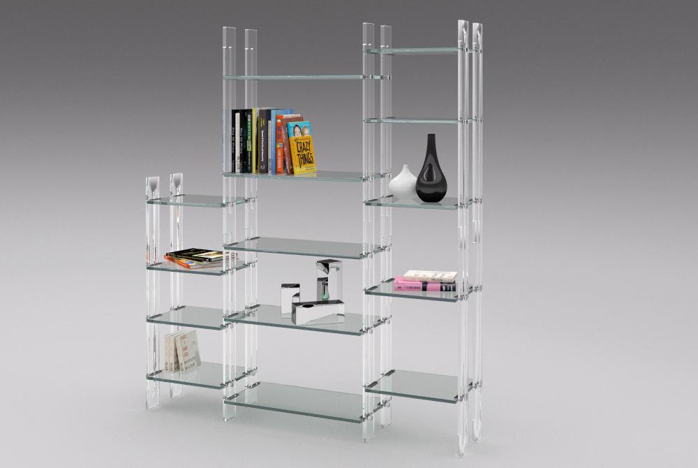 Bibliothèque Etagère Transparente  Madélia-Paris Mobilier de luxe