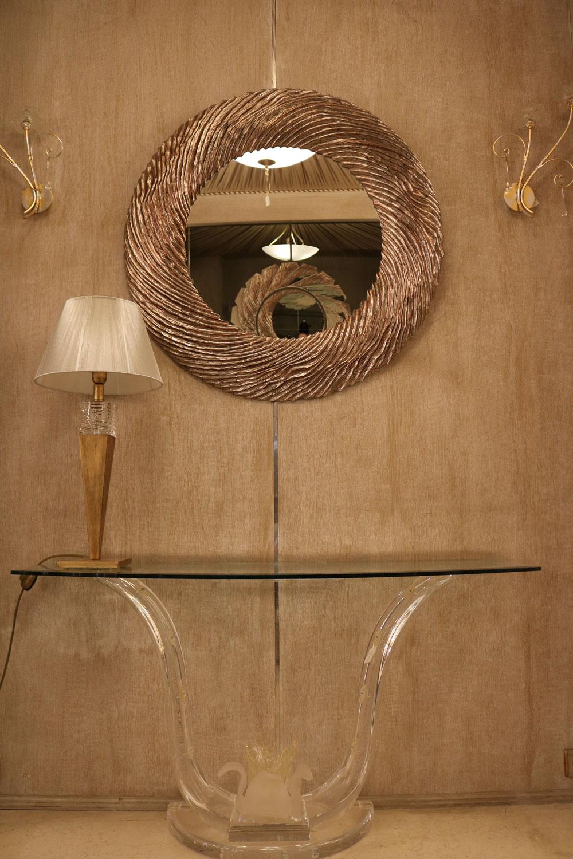 Miroir, console, Lampe Madélia-Paris