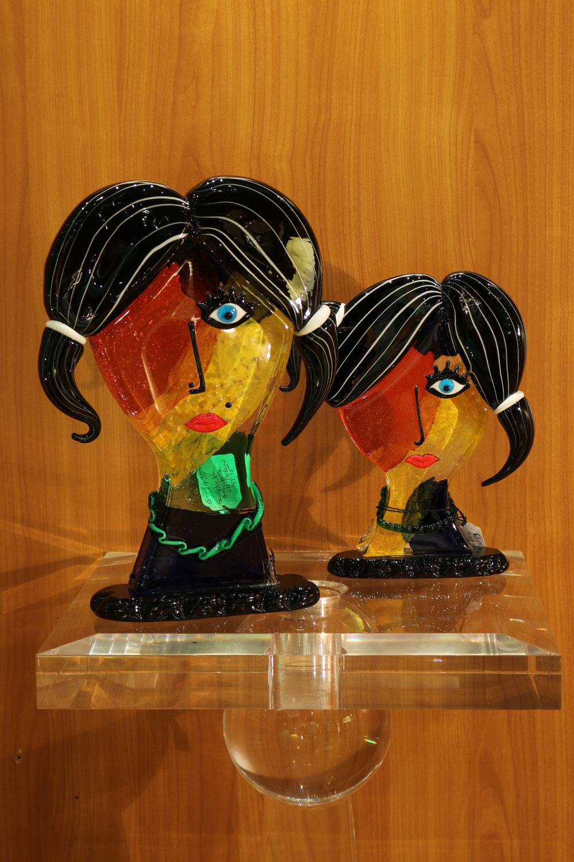 tete les 2 sœurs pate de verre de venise Madelia-paris
