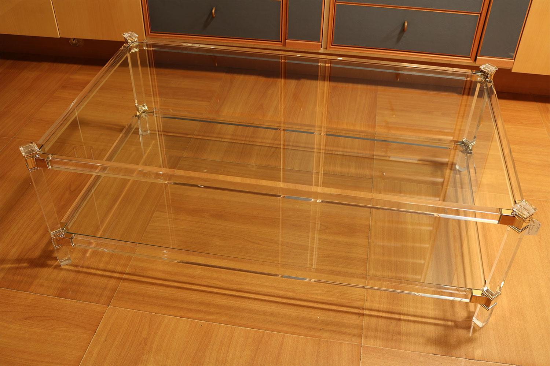 Table basse double plateaux transparente Madelia - Mobilier de luxe Paris