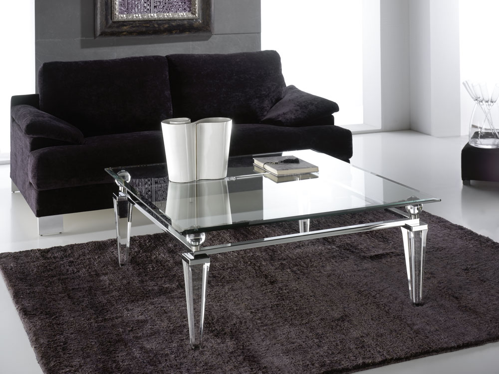 Tables basse transparente Madelia Paris Meubles de luxe