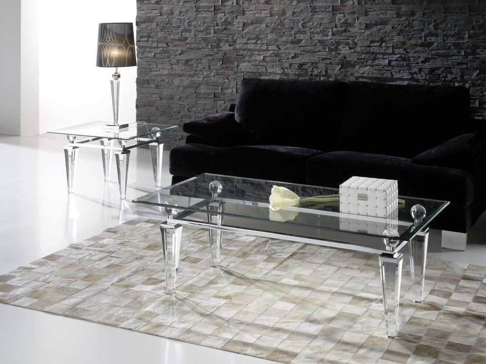 Mobilier haut de gamme Paris Tables basse transparente Madelia Paris