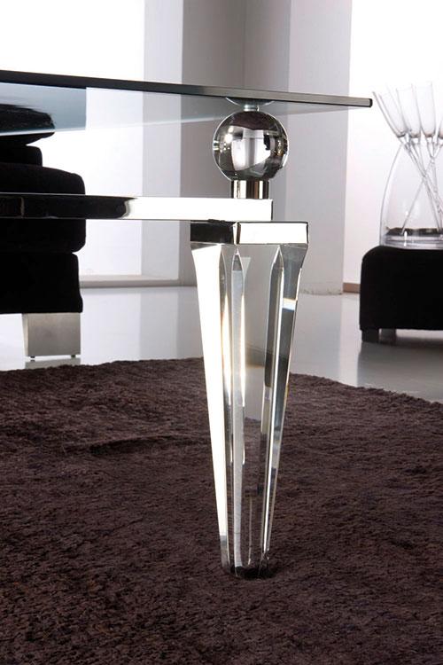 Meuble de luxe Paris Tables basse transparente Madelia Paris détail