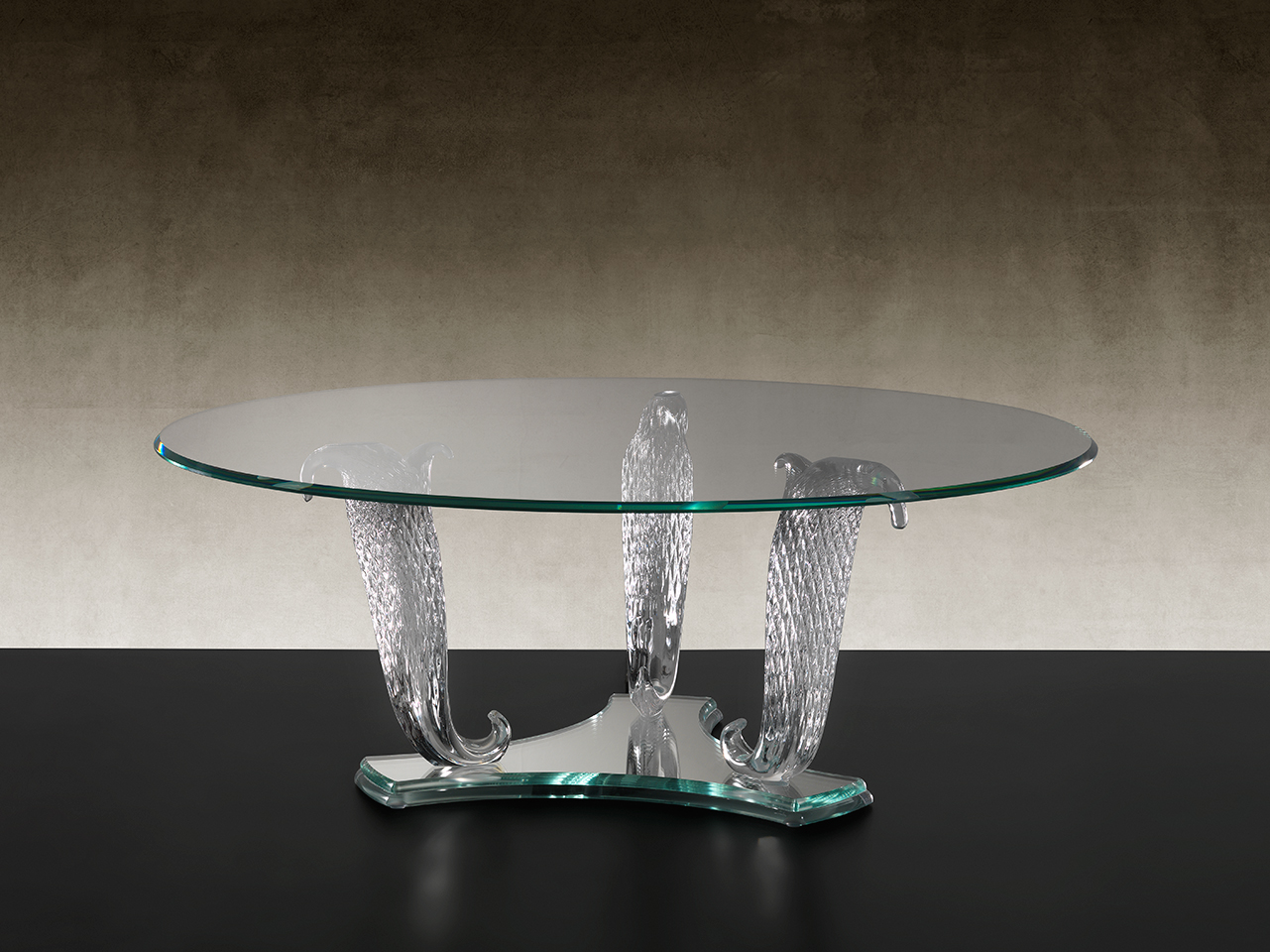 the most beautiful coffee table clear glass Murano in Madelia Paris