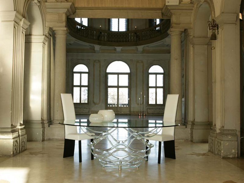 Glass table NEO 72 | Madelia luxury furniture store Paris