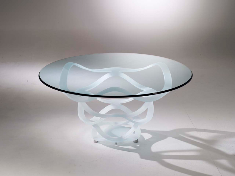 Luxury glass table Madelia store Paris NEO 72