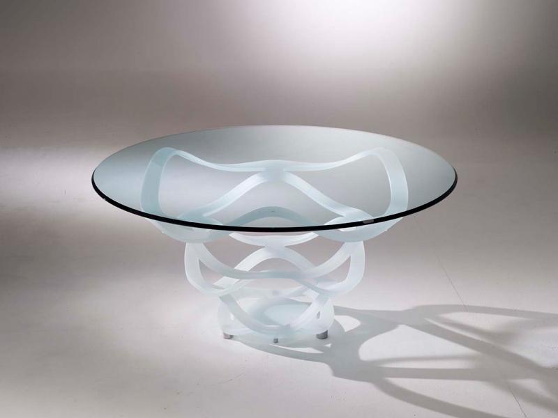 Table de repas en verre transparente Madelia luxe Paris NEO 72