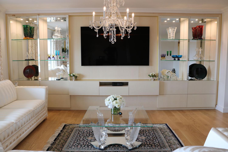 Blibliothèque, meuble de rangement, télé, Madélia-Mobilier de Luxe Paris