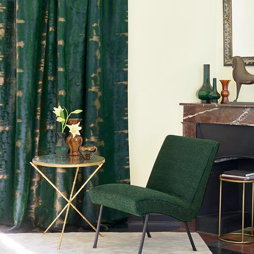 beaux rideaux sur mesures- Paris Madelia verts