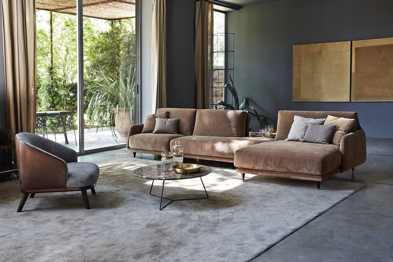 Module d'angle ouvert Elliot grand confort- magasin de luxe Madélia Paris