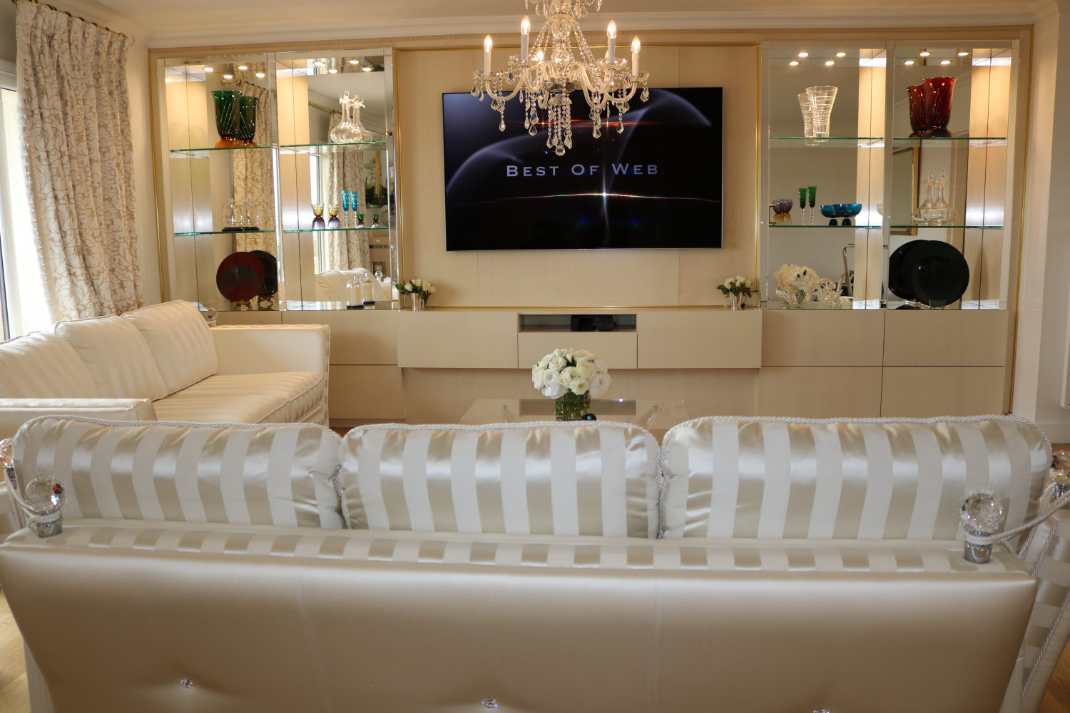 meuble de salon luxury wall unit for tv, Madélia-Mobilier de Luxe Paris