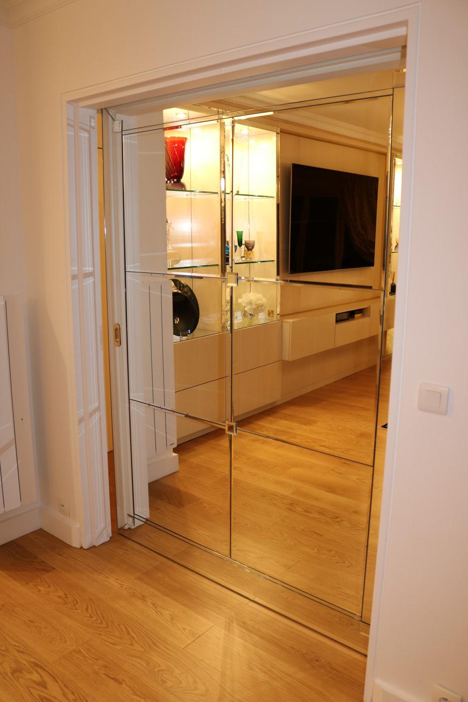 Porte en Miroir biseautés- meuble de Prestige- Madelia Paris