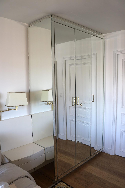 armoire en miroir vue de côté-Madelia Paris