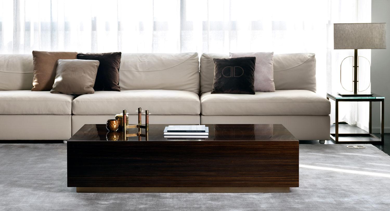Table basse avec tiroirs en bois vernis-Madelia paris mobilier de luxe
