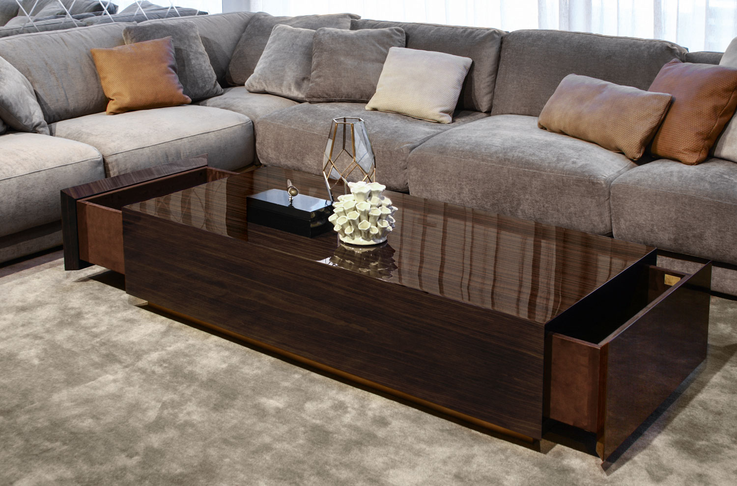 coffee table with drawer luxury furniture France Madelia