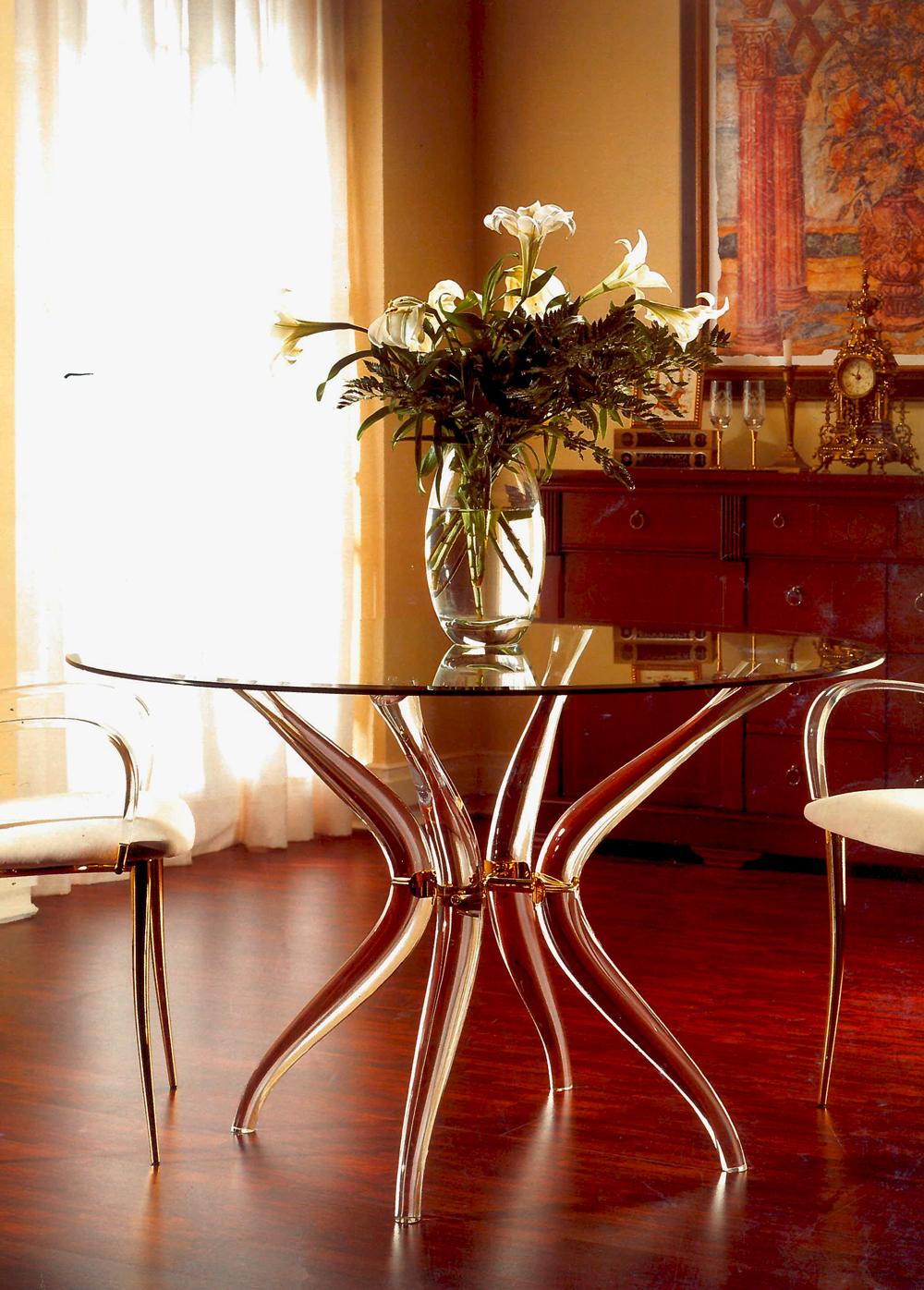 Mobilier Transparent table Olivo magasin de meuble 16 arrondissement Paris