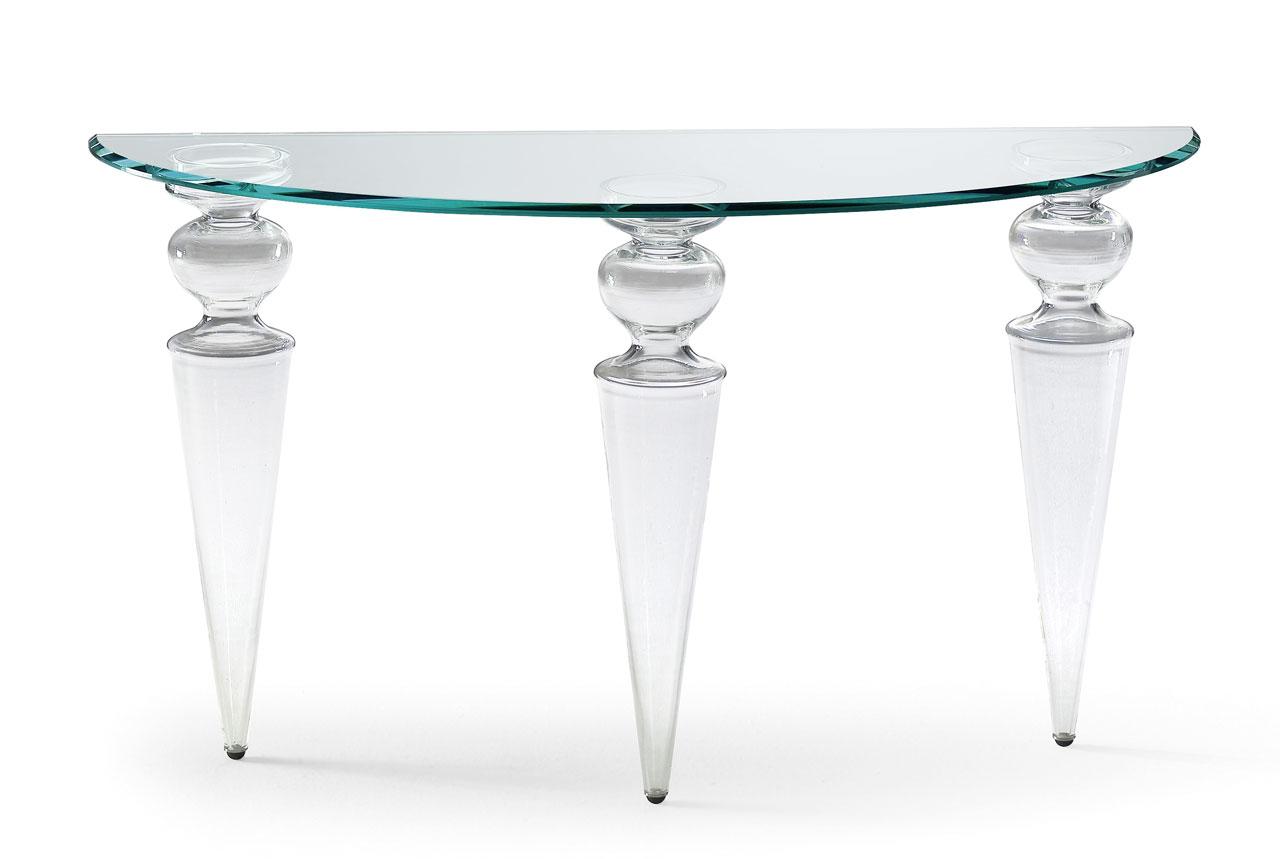 Mobilier de luxe Paris Table salle à manger transparente - Madélia