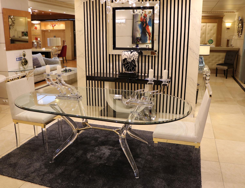 Mobilier de luxe Paris -Table transparente MADELIA PARIS